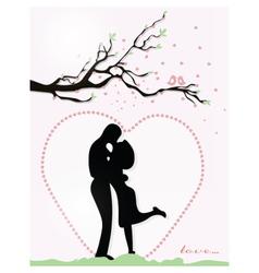 Valentine day Couple vector image