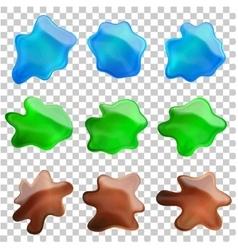 blots set vector image vector image