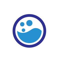 circle water liquid logo vector image
