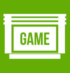 game cartridge icon green vector image