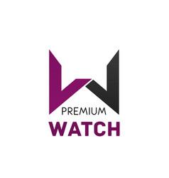 logo for brand premium watch vector image