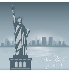 New York skyline city silhouette Background vector image