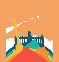 travel mexico world landmark landscape vector image vector image
