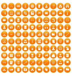 100 criminal offence icons set orange vector image