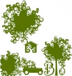 be green set vector image vector image