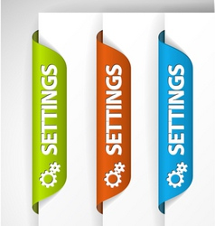 bookmark stickers vector image vector image