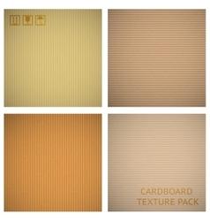 Cardboard textures set vector image