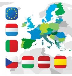 european union flags vector image vector image