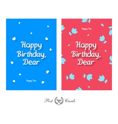 Happy Birthday Dear Tender and Cute Greeting vector image
