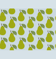 seamless pattern fruit pear vector image