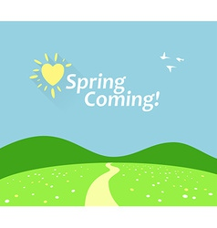 Spring Comming vector image vector image