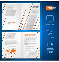 booklet design template catalog brochure lines vector image