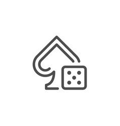 gambling line icon vector image