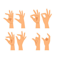 hand size signs or thickness gestures vector image vector image