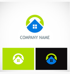 home round technology logo vector image vector image