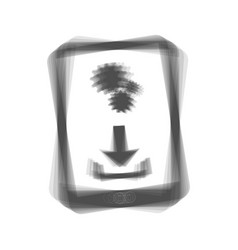 phone icon with settings symbol gray icon vector image vector image