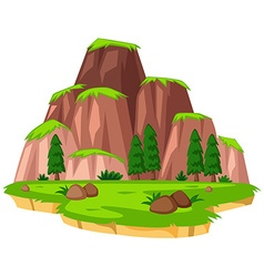 Scene with mountains on island vector image vector image