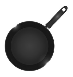 a frying pan view from vector image