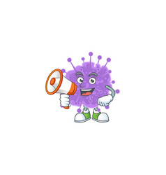 A picture coronavirus influenza with a megaphone vector