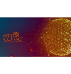 abstract space colorful background vector image