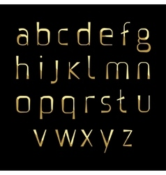 alphabetic gold fonts vector image
