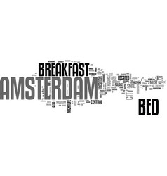 Amsterdam apartments text word cloud concept vector