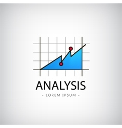 analysis logo market icon chart vector image