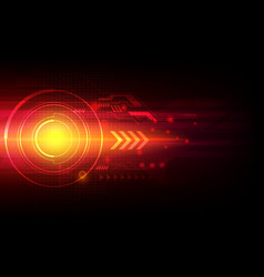 arrow automation technology abstract laser vector image