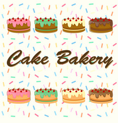 background desing with cakes vector image