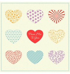 Background with multicolored hearts vector