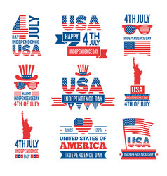 banners of america independence day labels vector image