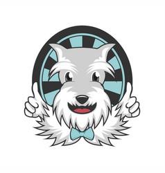 beard dog mascot vector image