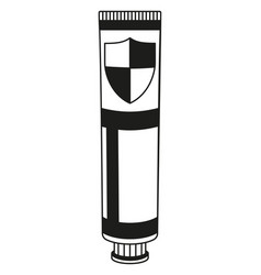 black and white toothpaste tube silhouette vector image