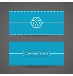 Blue Envelope Template vector image