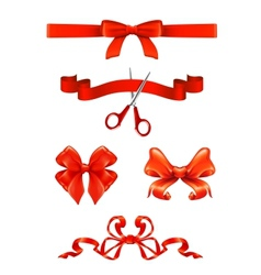 Bows and ribbons set vector image
