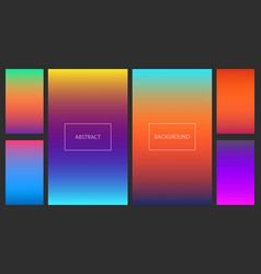 bright sunset gradients for smartphone backgrounds vector image