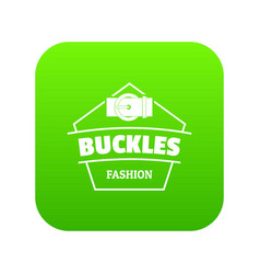 Buckle clothing icon green vector