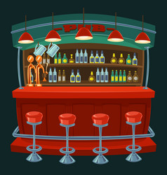 cartoon the interior of the pub vector image