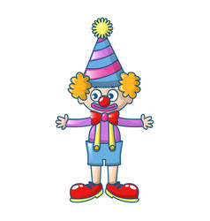 clown icon cartoon style vector image