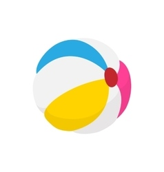 Colorful ball icon cartoon style vector image