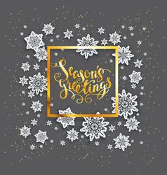 dark snowflakes christmas card vector image