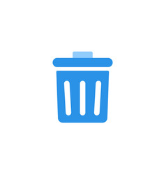 Delete icon blue monochrome color vector