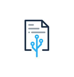 digital document logo icon design vector image