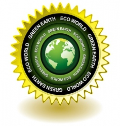Earth eco icon vector