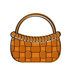 empty picnic basket icon vector image
