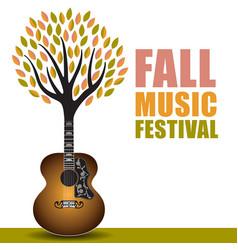 fall music festival art vector image vector image