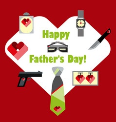 fathers day banner design vector image