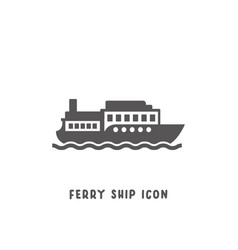 Ferry ship icon simple flat style vector