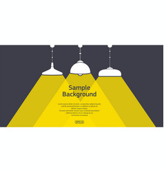flat ceiling lights set with sample text vector image