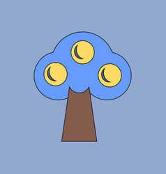 Flat icon design collection ecological tree vector